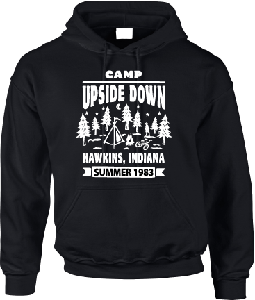 CAMP UPSIDE DOWN HOODIE- INSPIRED BY STRANGER THINGS