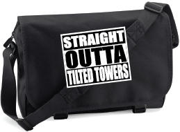 STRAIGHT OUTTA TILTED TOWERS M/BAG - INSPIRED BY FORTNITE BATTLE ROYALE